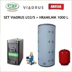 Set kotlovnica Viadrus U32/5 čl. z elektro montažo